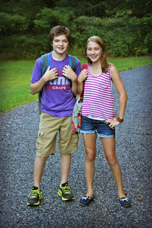 Hudson and Ella Back to School